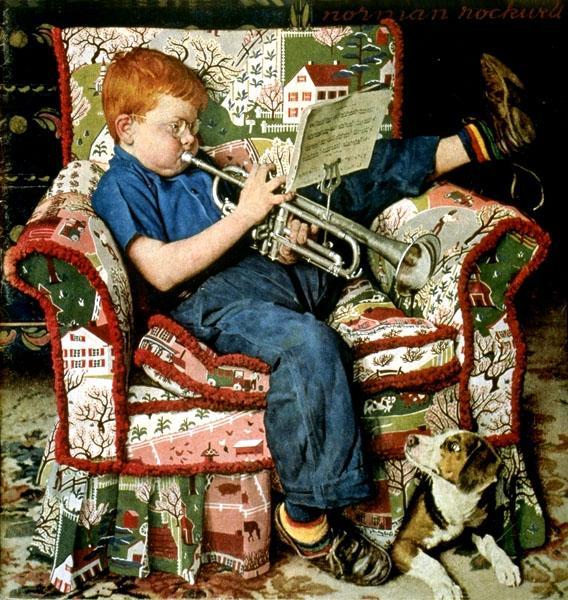 Trumpet Practice, 1950 - Norman Rockwell