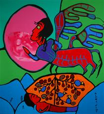 Dreaming of the Astral Plane - Norval Morrisseau