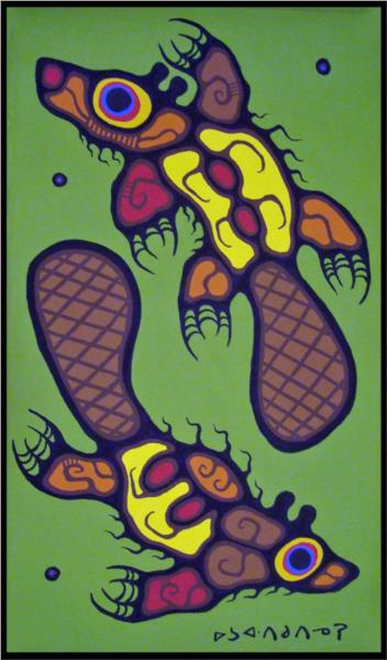 Song of the Beaver, 1976 - Norval Morrisseau