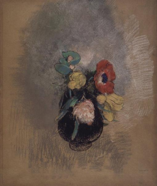 Anemones and Tulips - Odilon Redon