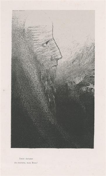 Anthony: Help me, O my God! (plate 2), 1896 - Odilon Redon