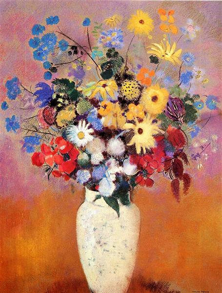 White Vase With Flowers 1916 Odilon Redon Wikiart