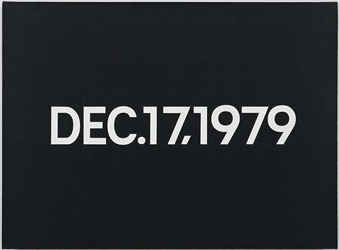 Dec. 17, 1979 (from Today Series, Monday), 1979 - On Kawara