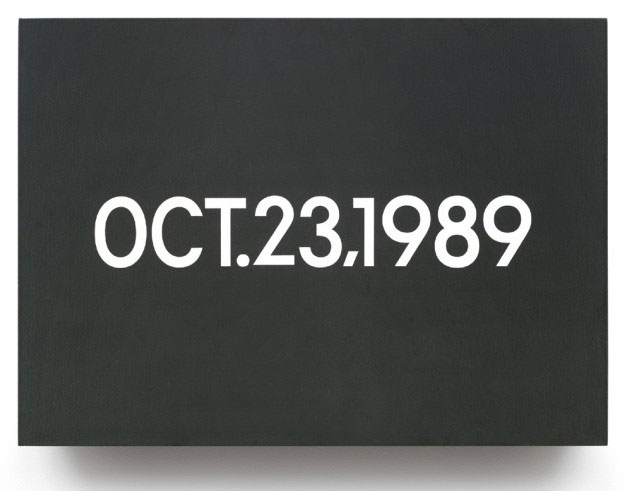 Oct. 23, 1989 (from Today Series, Monday), 1989 - On Kawara
