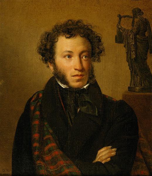 Portrait of Alexander Pushkin, 1827 - Orest Kiprensky