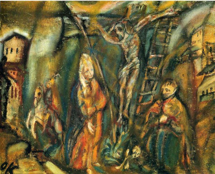 Crucifixion (Golgotha), 1912 - Oskar Kokoschka