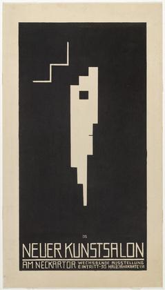 Poster for the Neuer Kunstsalon, Stuttgart (Plakat, Neuer Kunstsalon, Stuttgart) - Oskar Schlemmer