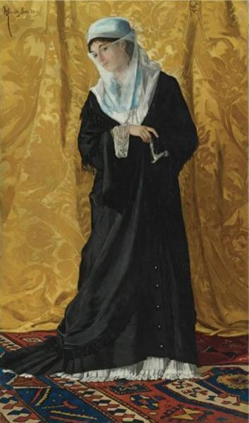 A Lady of Constantinople, 1881 - Osman Hamdi