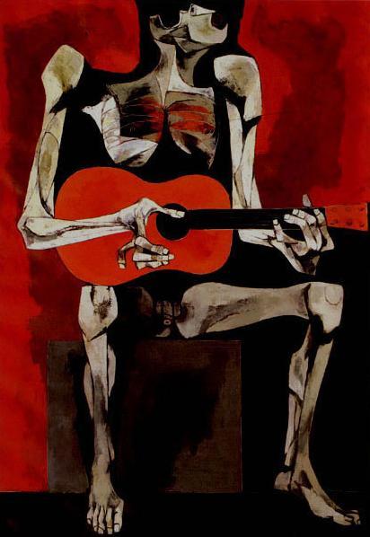 El Guitarrista - Oswaldo Guayasamin
