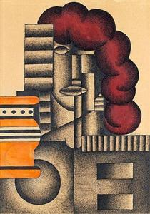 Arkitektonisk komposition - Otto Gustav Carlsund