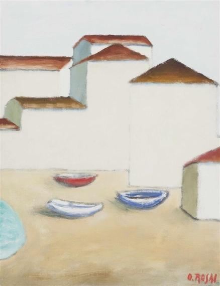 Barche sulla spiaggia, 1955 - Ottone Rosai
