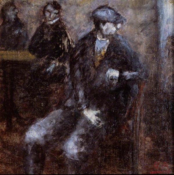 Man Waiting, 1919 - Оттон Розай