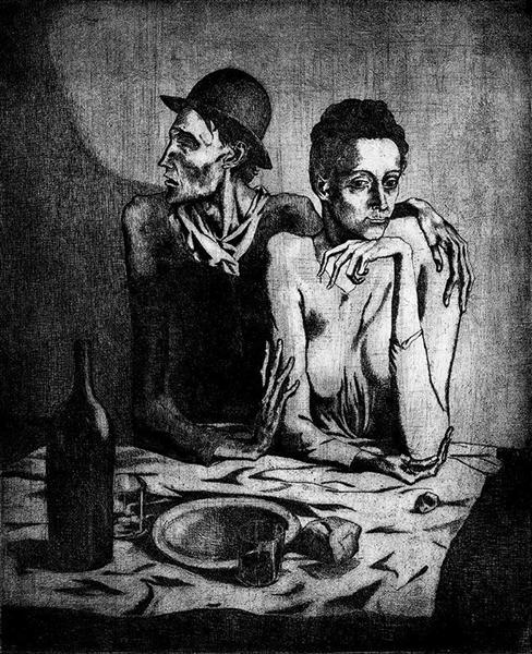 The Frugal Repast, 1904 - Pablo Picasso