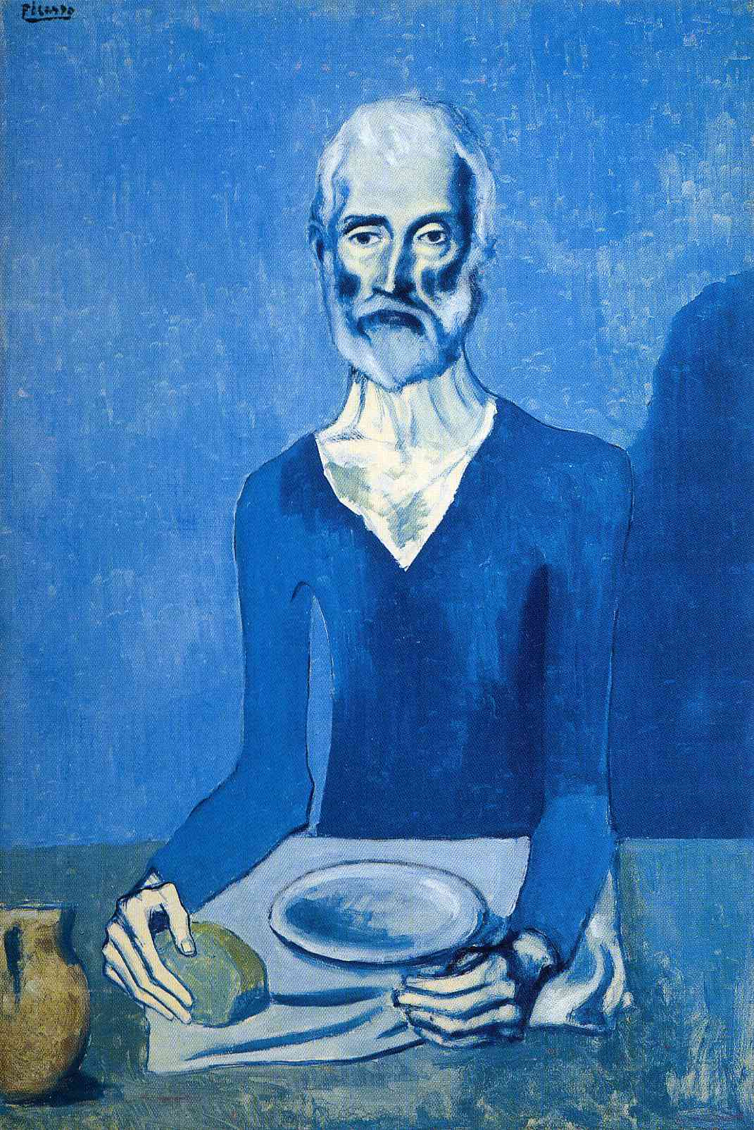 an analysis of the old guitarist pablo picassos painting from the blue period The old guitarist by picasso: meaning & in this lesson, we will examine the artistic life of pablo picasso we will review the different stages of his art, particularly the blue period.