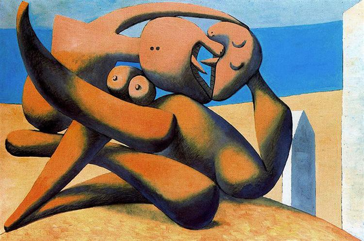 Figures at the seaside - Pablo Picasso