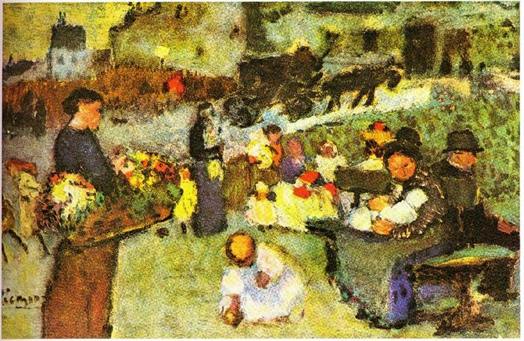 Flower seller, 1901 - Pablo Picasso - WikiArt.org