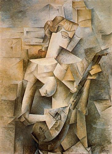 Girl with mandolin (Fanny Tellier) - Pablo Picasso