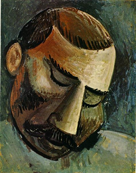 the optical imagery in head of a woman an oil painting by pablo picasso Abstract painting derives from antiquity,  top 100 abstract painters  • pablo picasso (1881-1973.