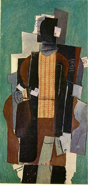 Man with pipe, 1914 - Pablo Picasso