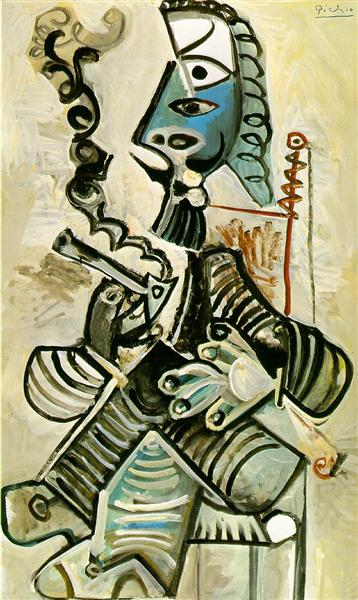 Man with pipe, 1968 - Pablo Picasso