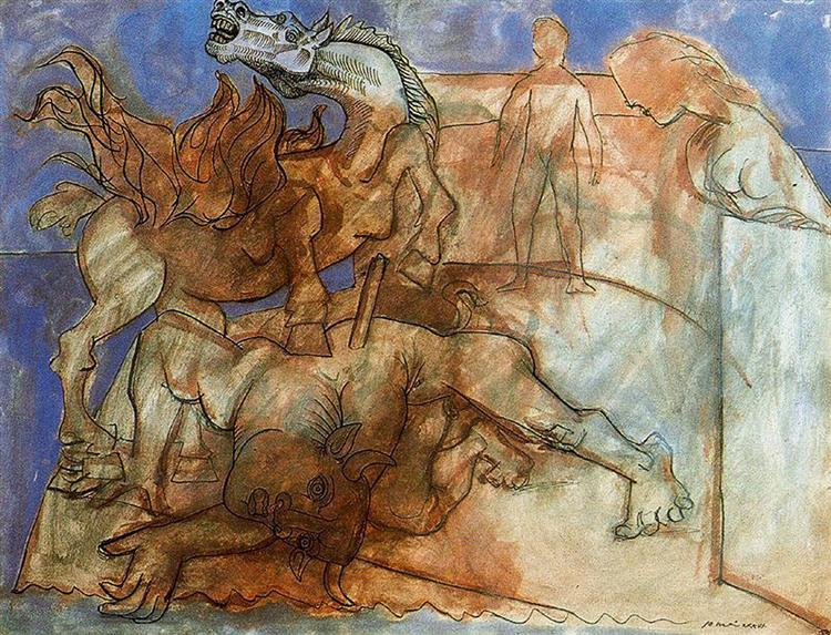 Minotaur is wounded, horse and personages, 1936 - Pablo Picasso