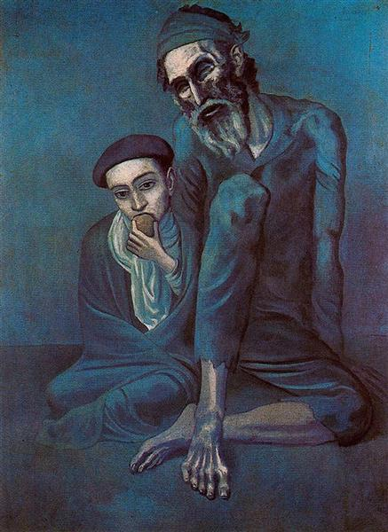 Old blind man with boy, 1903 - Pablo Picasso