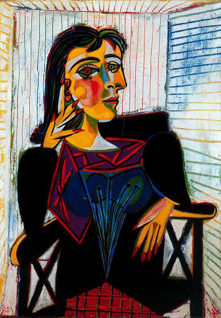 Portrait de Dora Maar - Pablo Picasso - 1937