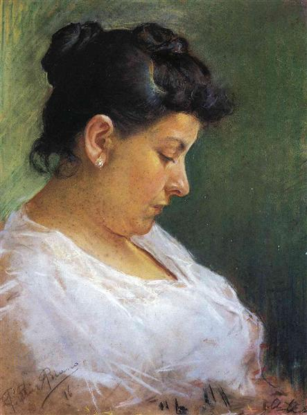 Portrait of the Artist's Mother, 1896 - Pablo Picasso