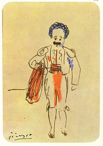 Sebastia Junyer-Vidal as matador - Pablo Picasso