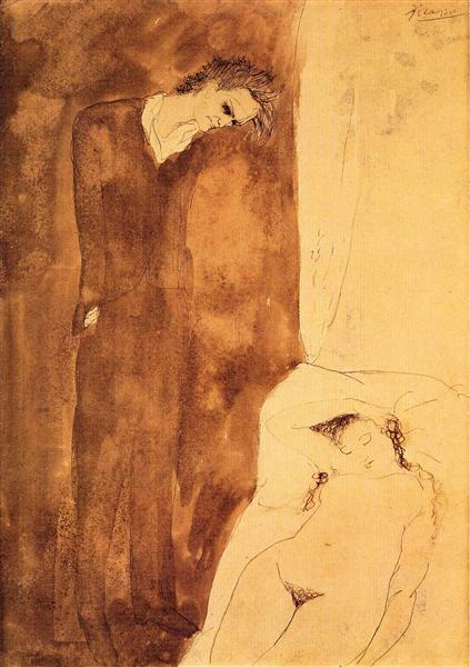 Sleeping nude, 1904 - Pablo Picasso