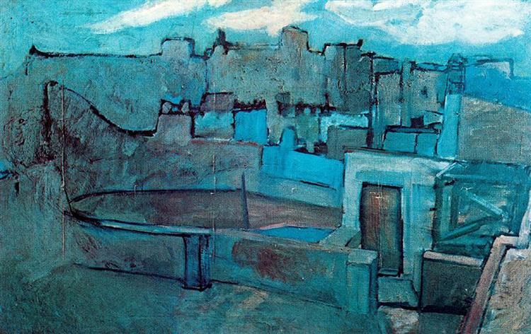 The roofs of Barcelona, 1903 - Pablo Picasso