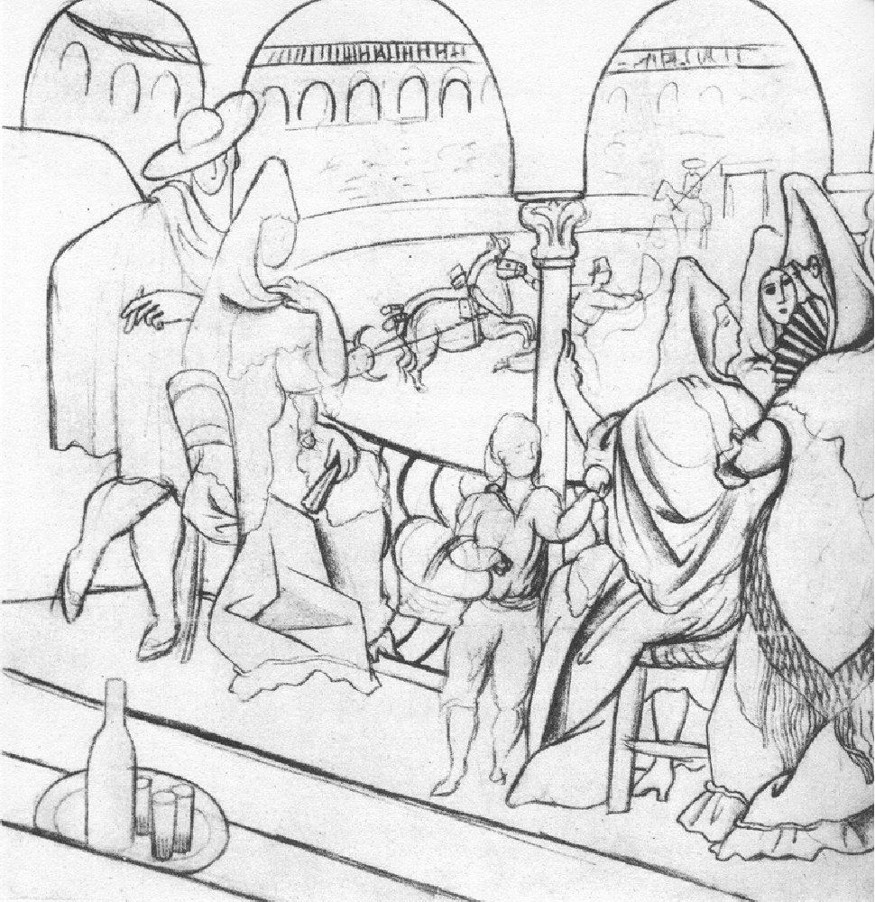 """Tricorne"" (study), 1919"