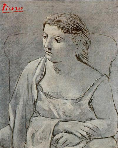 Woman in white - Pablo Picasso