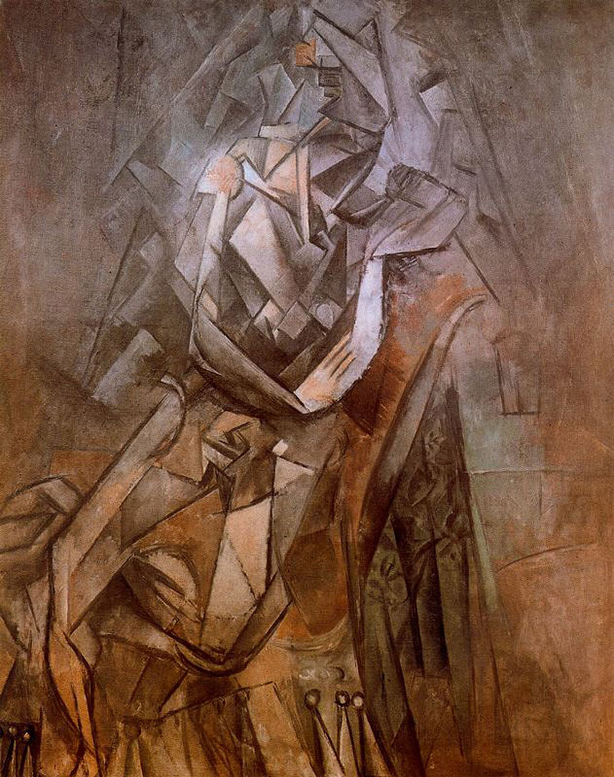 woman sitting in an armchair, c.1912 - pablo picasso - wikiart