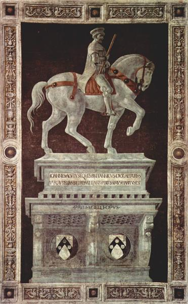 Equestrian Monument of Sir John Hawkwood, 1436 - Паоло Учелло