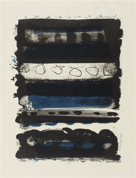 Black and Blue Stripes, 1958 - Patrick Heron
