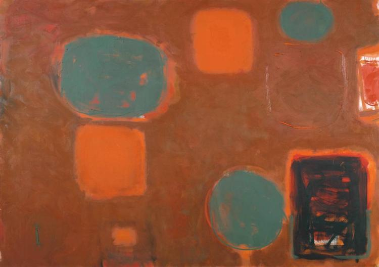 Brown Ground with Soft Red and Green: August 1958 - July 1959 - Patrick Heron