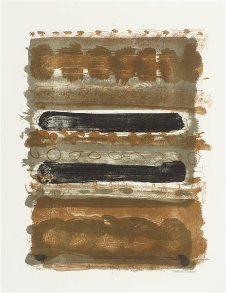 Grey and Brown Stripes, 1958 - Patrick Heron