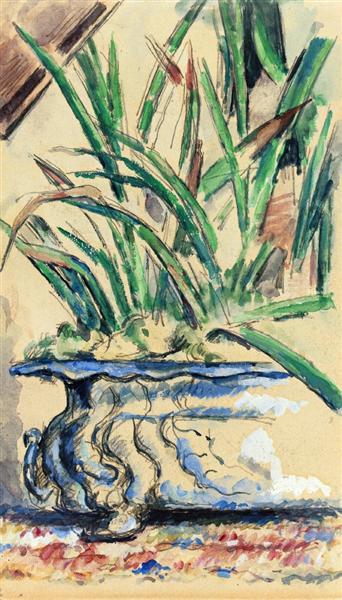 Blue Flowerpot, 1885 - Paul Cézanne