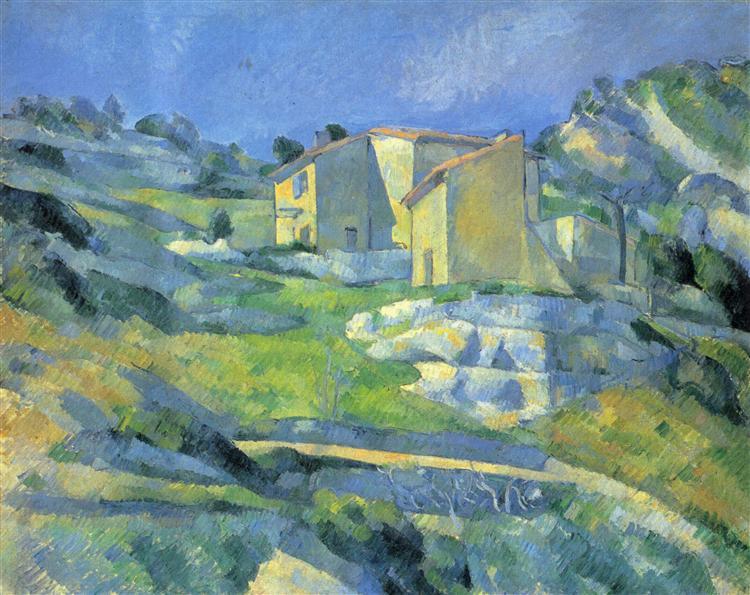 Houses at the L'Estaque, 1880 - Paul Cezanne