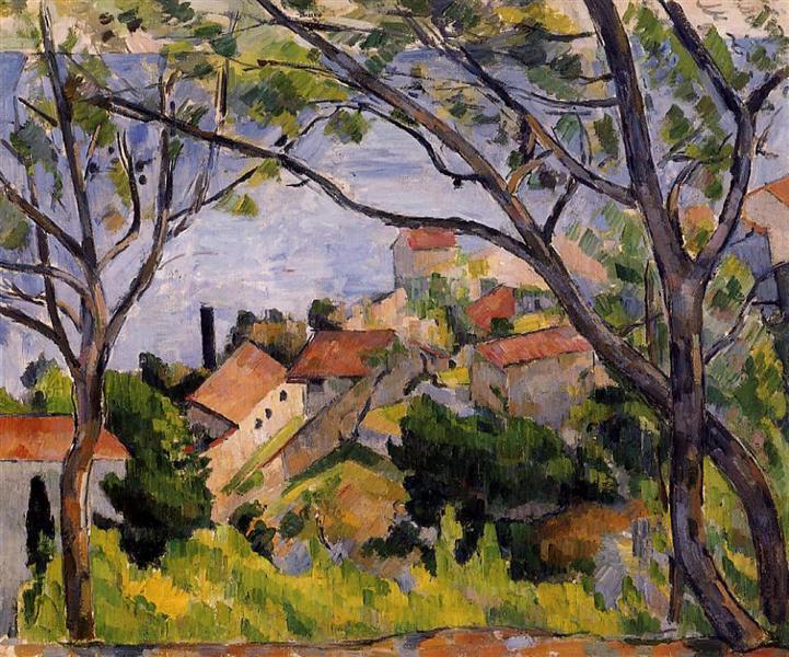 L'Estaque. View through the Trees, 1879 - Paul Cézanne