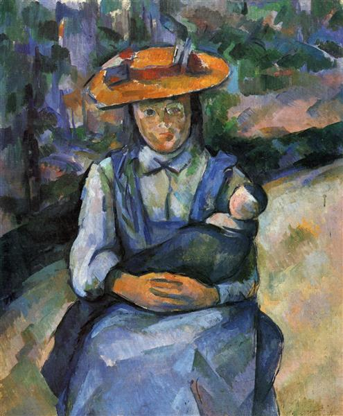Little Girl with a Doll, 1904 - Paul Cezanne