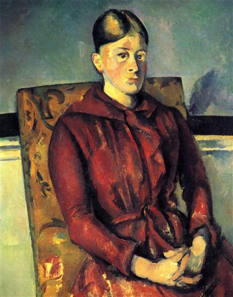 Madame Cezanne with a Yellow Armchair - Cezanne Paul