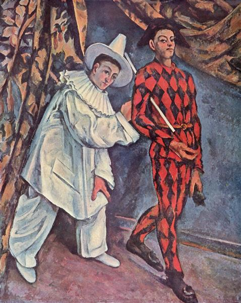 Pierrot and Harlequin (Mardi Gras), 1888 - Paul Cezanne