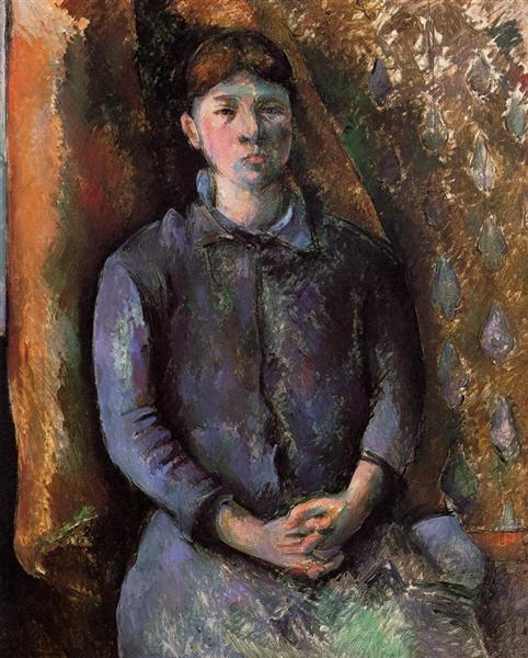 Portrait of Madame Cezanne, c.1886 - Paul Cezanne
