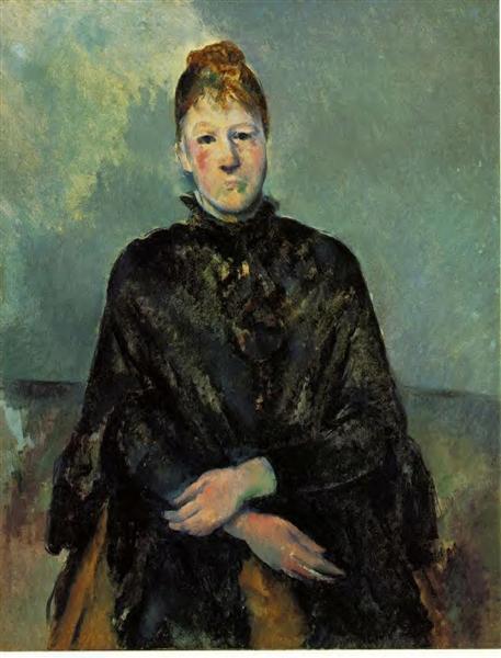 Portrait of Madame Cezanne, c.1887 - Paul Cezanne