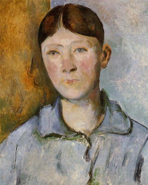 Portrait of Madame Cezanne, c.1890 - Paul Cezanne