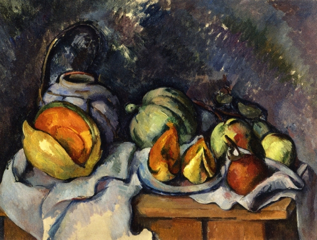 Still Life with Fruit and a Ginger Pot, c.1895 - Paul Cézanne