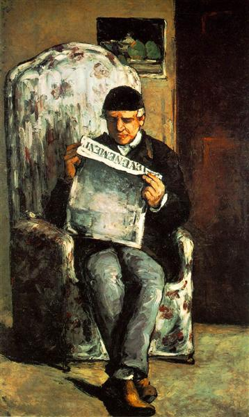 The Artist's Father Reading his Newspaper, 1866 - Paul Cezanne