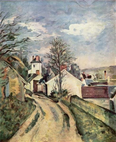 The House of Dr. Gached in Auvers, 1873 - Paul Cezanne